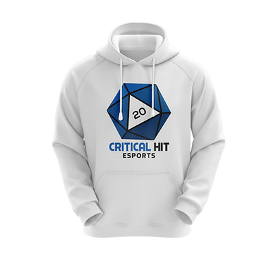 Critical Hit Esports Regular Hoodie White