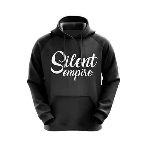 Silent Empire Script Text Hoodie Black - Next Generation Clothing