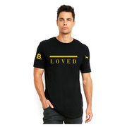 Loved Longline Tee - Black