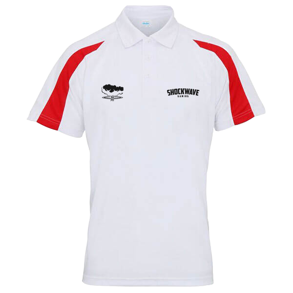 Shockwave Performance Polo - White/Red
