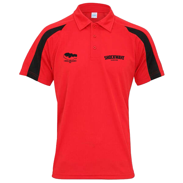 Shockwave Performance Polo - Red/Black