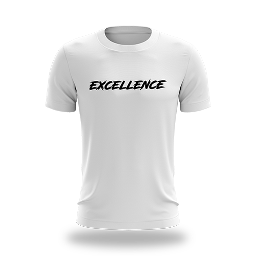 Excellence Gaming Script Tee - White/Black - Next Generation Clothing