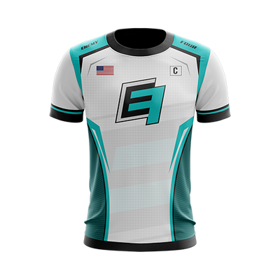 Enemy Four White Gaming Jersey