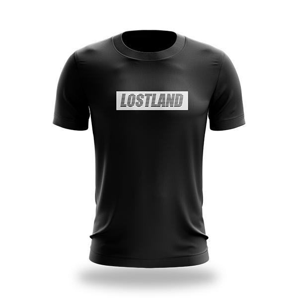 Lostland Block Tee - Black