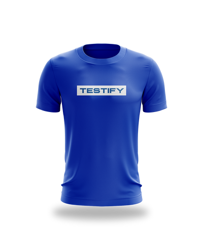 Testify Box Tee - Blue