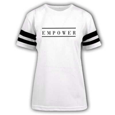 Empower Mesh Stripe Tee