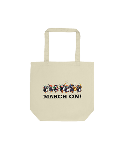 Mythos Evi 'March On' Tote Bag