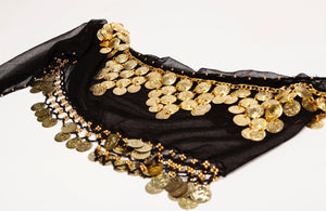 Black and Gold - Hip Scarf