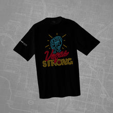 "Vegas Strong ""Neon Fist"" Black T- Shirt"