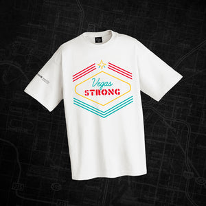 "Vegas Strong ""Shine On"" White T-Shirt"