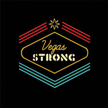 "Vegas Strong ""Shine On"" Black T- Shirt"