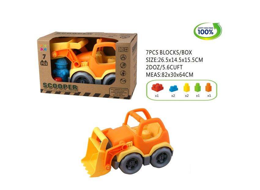 Eco Friendly Fire Engine 2 Bricks Vehicle - 15 Pieces