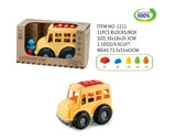 Eco Friendly Cartoon Car 6 Bricks Vehicle - 11 PCS