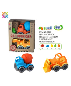 Eco Friendly Cartoon Car Double Pack Bricks Vehicle - Mashroo