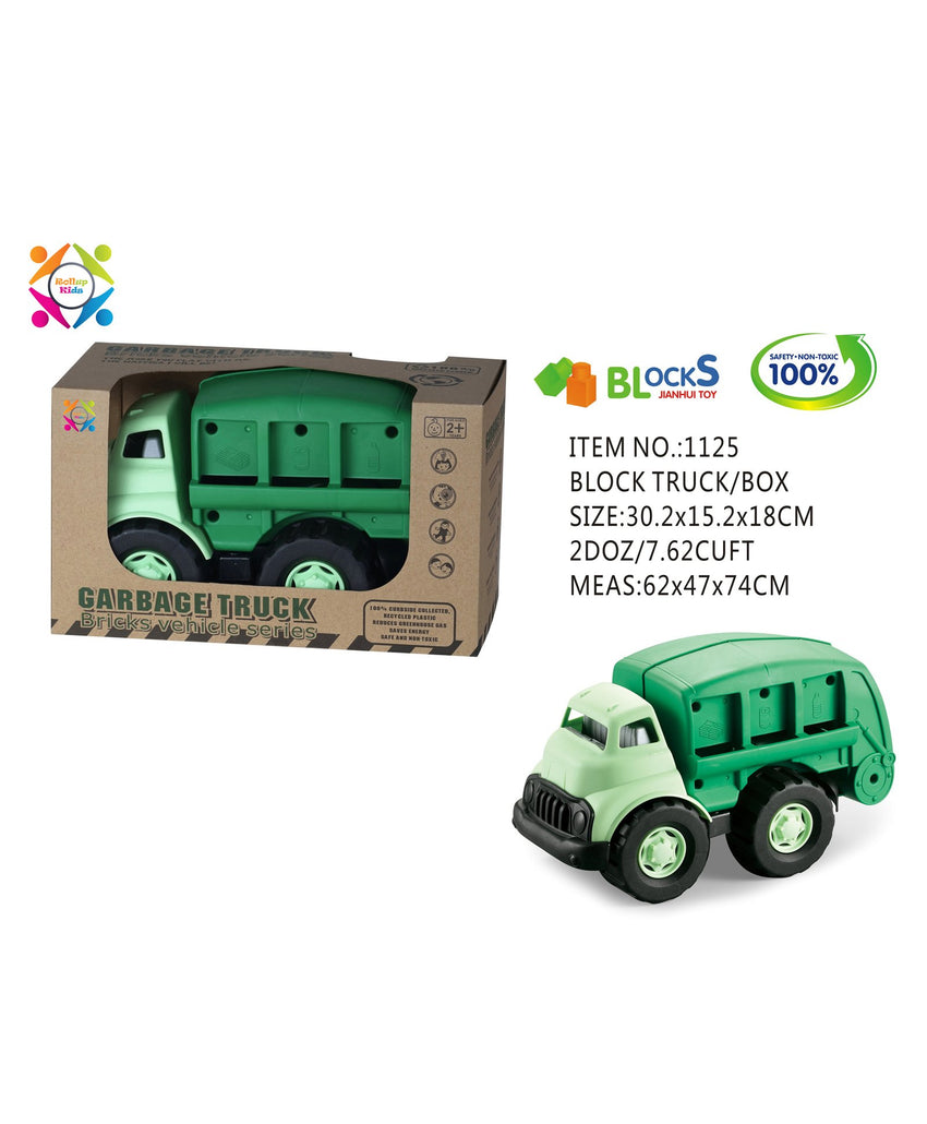 Eco Friendly Garbage Truck Bricks Vehicle