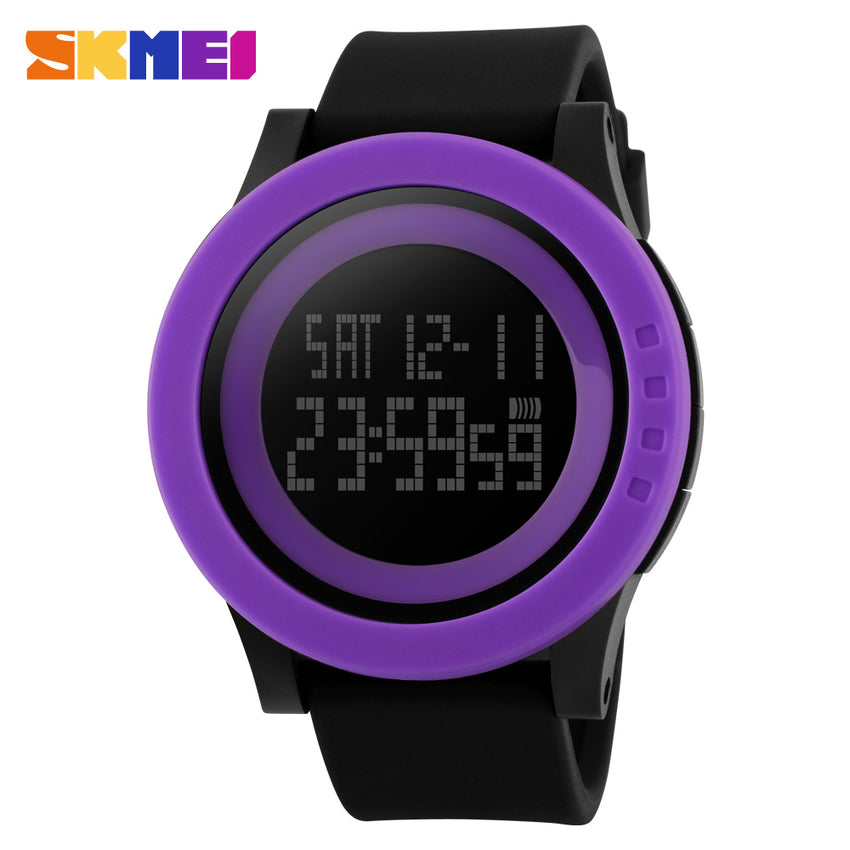 SKMEI SPORTS SWIMMING WATCH 1142-BLKPRPL