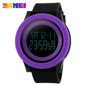 SKMEI SPORTS SWIMMING WATCH 1142-BLKPRPL - Mashroo