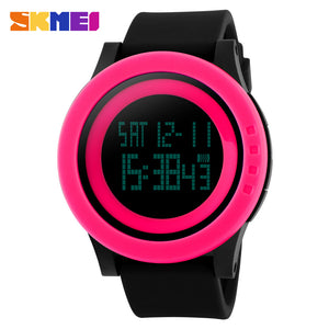 SKMEI SPORTS SWIMMING WATCH 1142-BLKPNK - Mashroo
