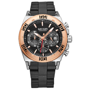 MEGIR CHRONOGRAPH WATCH M3009-GD - Mashroo
