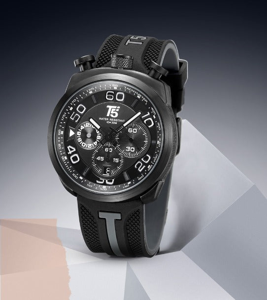 T5 CHRONOGRAPH SPORTS WATCH H3619 BLK