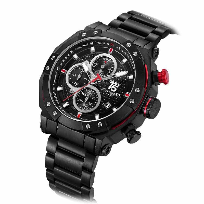 T5 CHRONOGRAPH WATCH H3631-BLK