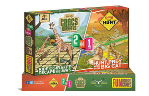 2 in 1 Crocs And Giraffes & The Hunt-Board Game - Mashroo