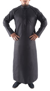 AL-LULU BLACK KANDORA / THOBE for MEN by MASHROO - Mashroo