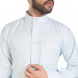 AL-LULU SKY BLUE KANDORA / THOBE for MEN by MASHROO