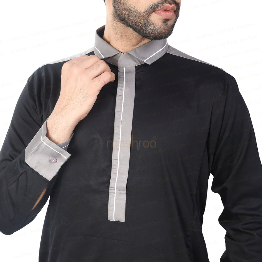 PANACHE BLACK & GREY KANDORA / THOBE for MEN by MASHROO