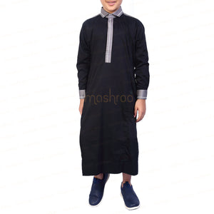 PANACHE BLACK & GREY KANDORA / THOBE for KIDS & BOYS by MASHROO - Mashroo