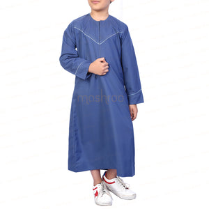 MADINA EMRATI BLUE KANDORA / THOBE for KIDS & BOYS by MASHROO - Mashroo