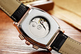 TEVISE Automatic Leather Watch - T-5020-BG