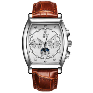 TEVISE Automatic Leather Watch - T-5020-BRS - Mashroo