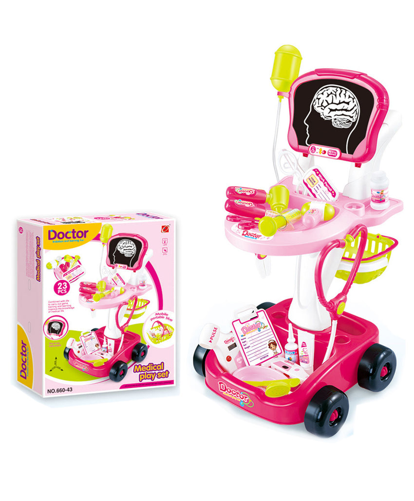 Doctor Play set for Girls Pink - 23 Pieces