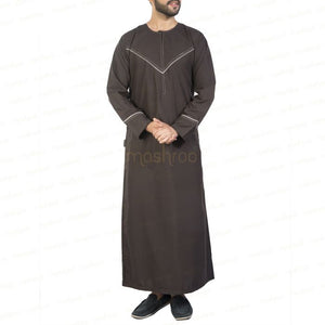 MADINA EMRATI BROWN KANDORA / THOBE for MEN by MASHROO - Mashroo