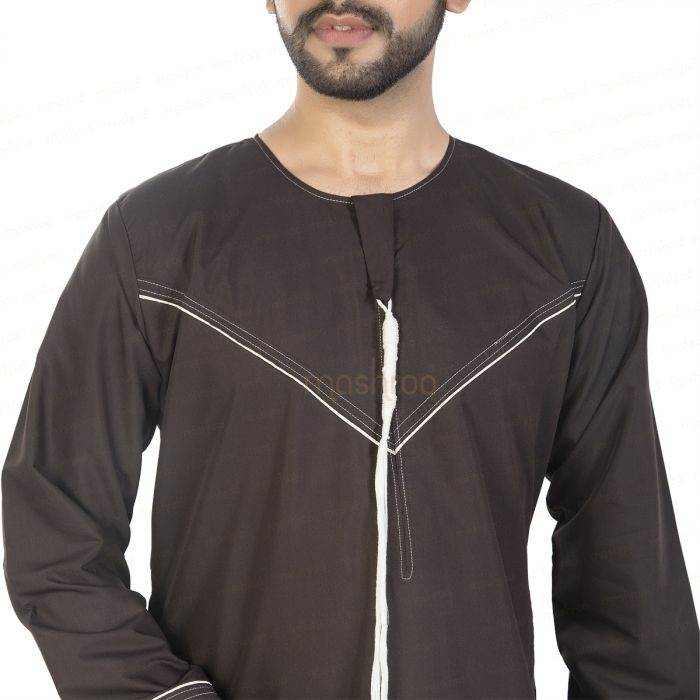 MADINA EMRATI BROWN KANDORA / THOBE for MEN by MASHROO