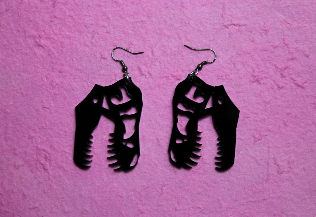 Black T Rex earrings