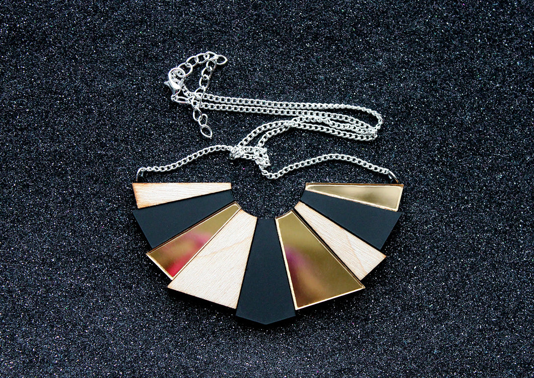 Geometric shard necklace