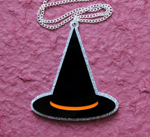 Witch hat necklace