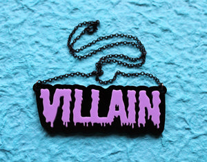 Villain black and lilac necklace