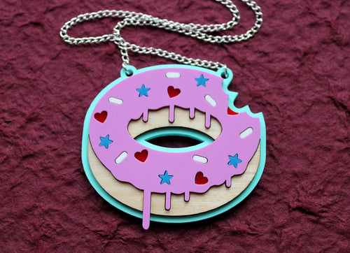 Iced donut necklace