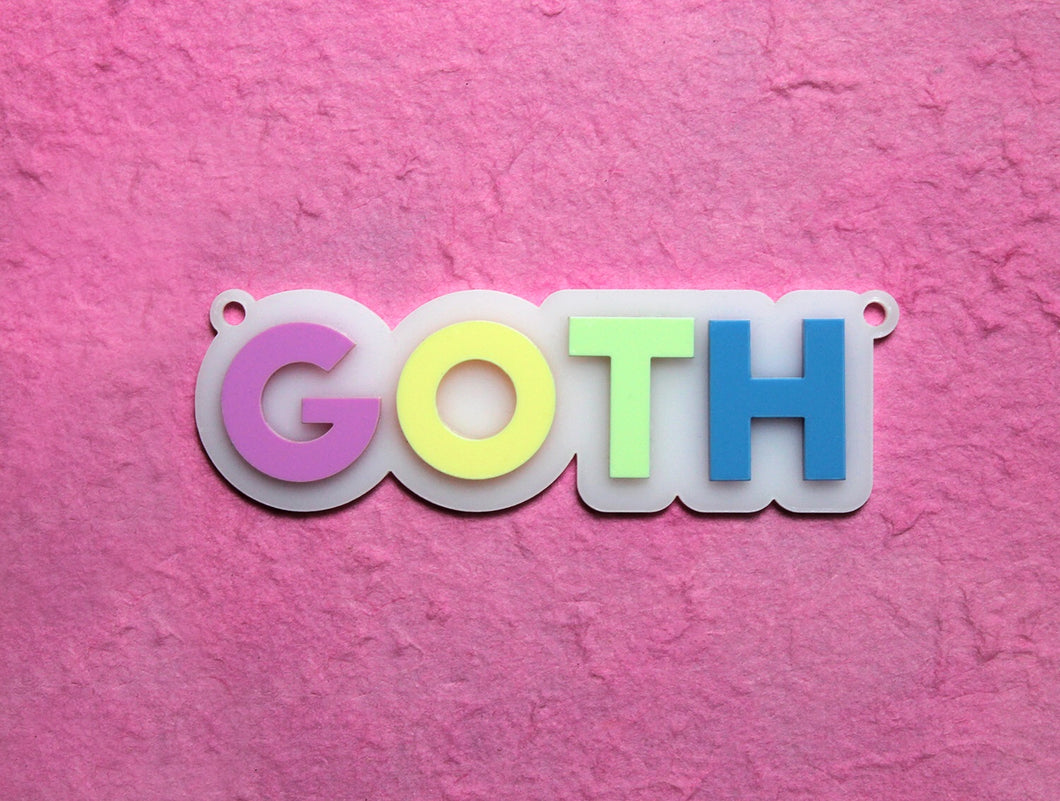 Pastel goth necklace