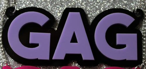 Lilac Gag necklace