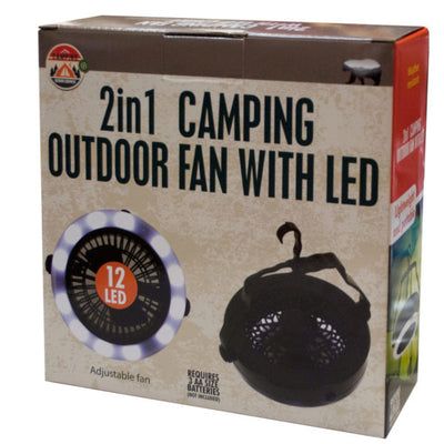 2 in 1 Outdoor Fan with LED Light