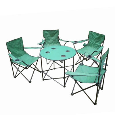 Folding Camping Table & 4 Chair set