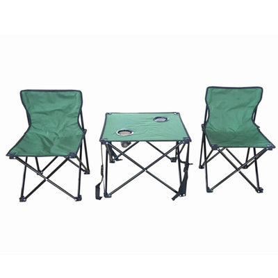 Folding table and 2 chair set