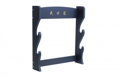 2 Piece Black Wooden Wall Stand