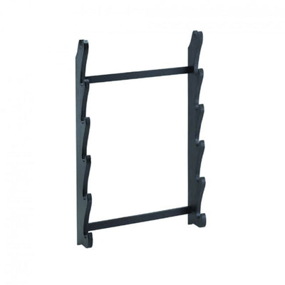 6 Piece Black Wooden Floor Stand