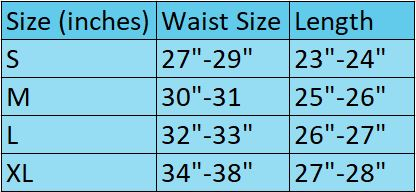 size chart for onesie