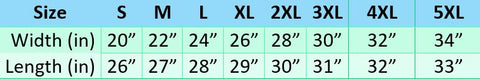 Sizing Chart for Sweaters by Super Gay Underwear